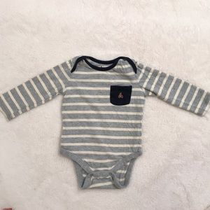 BabyGap grey striped bodysuit